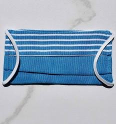 Schutzmaske für Kinder blau mit streifen