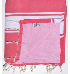 Strandtuch verdoppelt Schwamm rosa, Fuchsie und pink klar