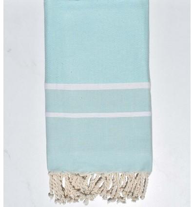 Serviette de plage chevron bleu pastel