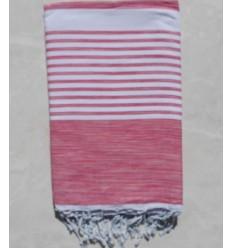 BETTÜBERWÜRFE rosa Farbe mit Streifen