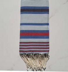 Fouta Dina hellblau mit Streifen