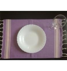 Mini Strandtuch platte lila mit hellrosa Streifen
