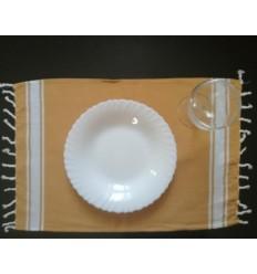 Mini fouta platte Senf