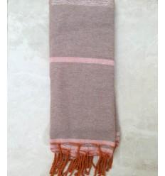 BETTÜBERWÜRFE hell und rosa Taupe mit Lurex 1.5m*2.5m
