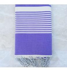 BETTÜBERWÜRFE weiß gestreifter Lavendel