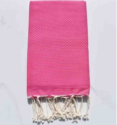 Strandtuch waben vereinigt rosa Kaugummi