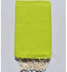 Strandtuch waben einfarbig Lindgrün