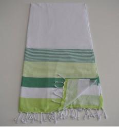 Strandtuch Schwamm weißer, grüner und grüner