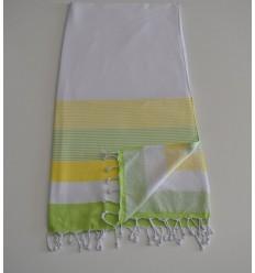 Strandtuch weißer Schwamm, Chartreuse und hellgrün