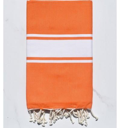 Strandtuch platte leuchtend orange