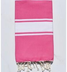 Strandtuch platte rosa Kaugummi