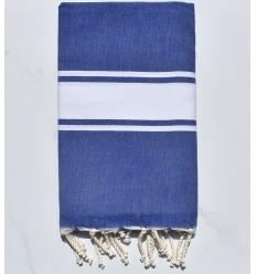 Fouta Platte Blaue Jeans mit Streifen