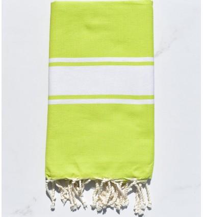 Fouta Strandtuch platte kartause grün