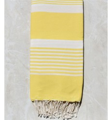 Bettüberwürfe Gelbgold mit Streifen