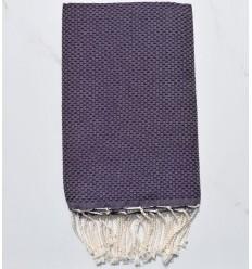 Stranbtuch waben dunkelviolett