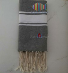 Fouta broderie M6