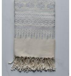 Strandtuch khomsa cremig weiß