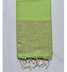 FOUTA Lurex platte Lindgrün
