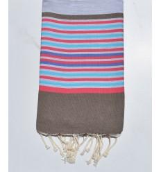 Strandtuch 5 Farben hellgrau, bistre, pink, azur und indigo