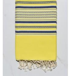 strandtuch Arabesken neongelb und blau