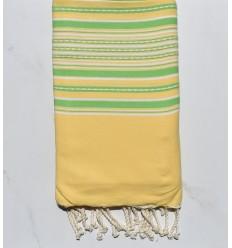 Strandutch Arabeske gelbe und grüne