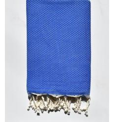 Strandtuch waben einfarbig blaue