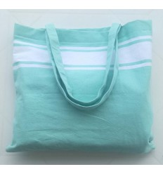 Strandtasche fouta grünes Wasser
