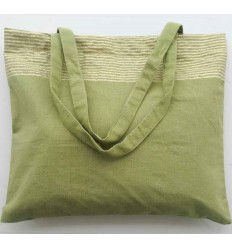 Strandtasche fouta olivgrün mit goldenem Lurex