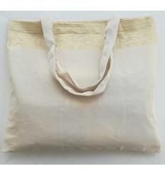 Strandtasche fouta cremeweiß mit goldenem Lurex