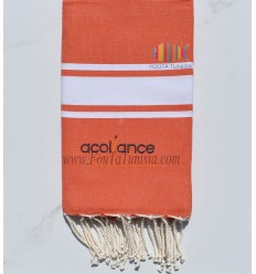 Fouta orange avec broderie