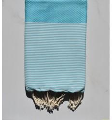 Strandtuch waben Cyan blau