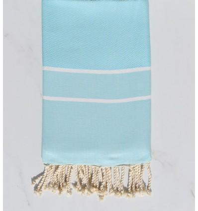 Fouta chevron bleu azurin