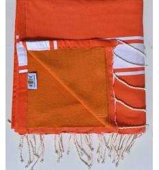 Strandtuch Doppelte Schwamm orange, albaricoque
