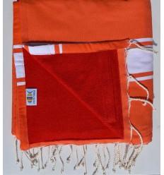Strandtuch Doppelte Schwamm orange rot