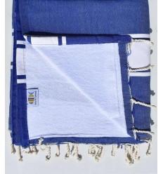 Strandtuch verdoppelt Schwamm blauer König und weiß