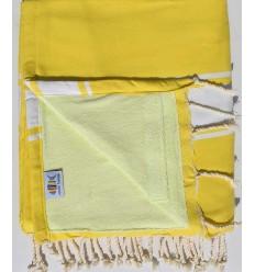 Strandtuch Doppelte Schwamm gelb Kobalt und gelb Kalk