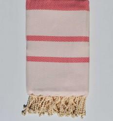 Strandtuch chevron dunkelrosa und rosa Flieder