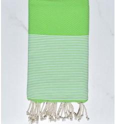 Strandtuch waben Absinth grün
