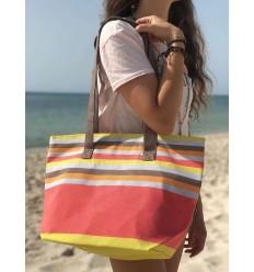 Strandtasche Strandtuch 5 farben klares nacart, grau, orange, braun und gelb