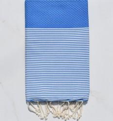 Fouta honeycomp Zigeunerblau Weiß gestreiftes