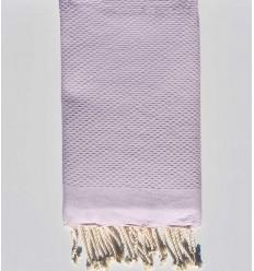Fouta Wabe einfarbig leichter Lavendel