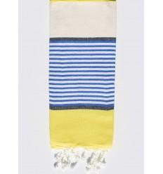 Strandtuch Kinder cremeweiß, gelb, blau und schiefergrau