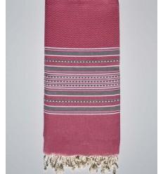 Bettwäsche Arabeske Candy Pink gestreift grau