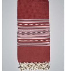Bettwäsche Arabeske rot gestreift weiß